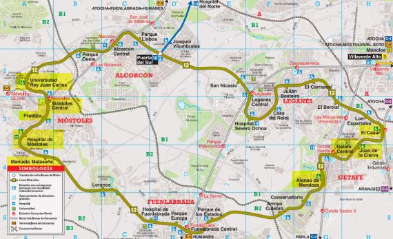 Obras en Metrosur, MetroEste y líneas 5, 6 y 10 de Metro - verano 2014