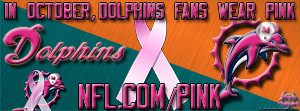 Miami Dolphins Breast Cancer Awareness Pink Facebook Cover Photo