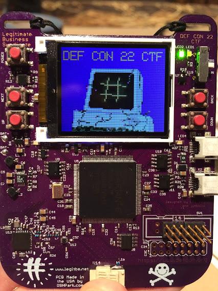DEF CON 22 CTF badge