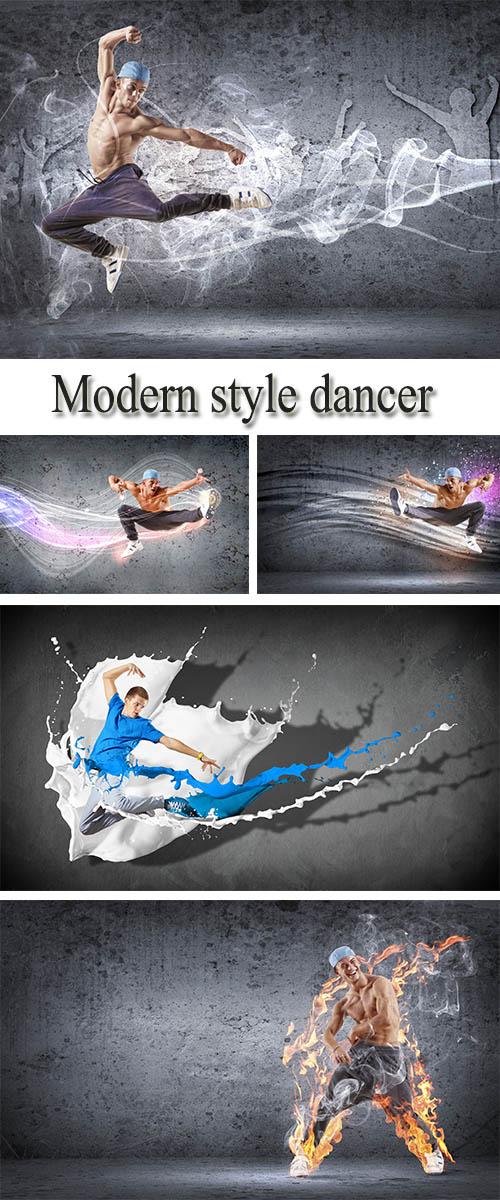 Stock Photo: Modern style of dance, dancer