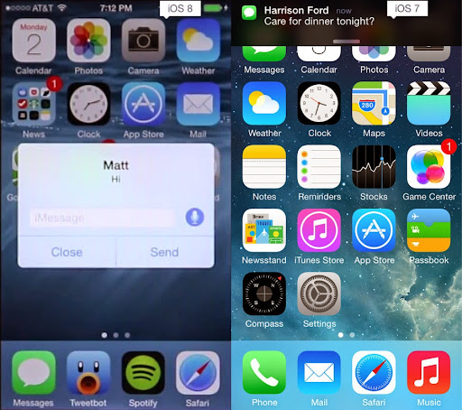 Những điểm khác biệt giữa iOS 7 và iOS 8