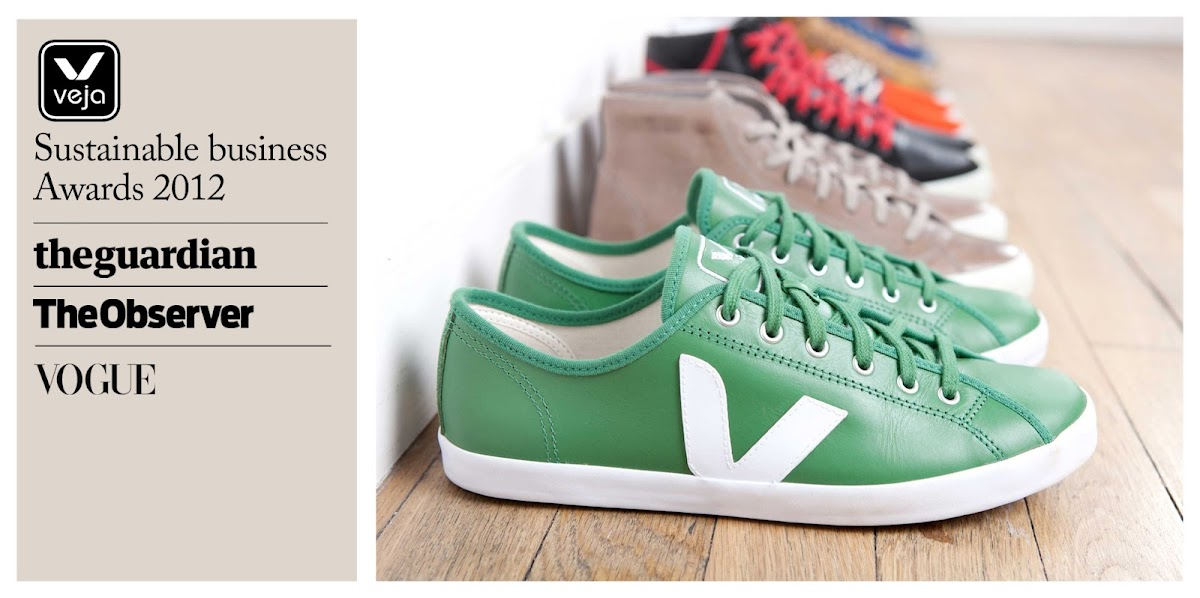 Veja Wins Both Guardian Sustainable Business Award and Observer Ethical Award [men's fashion]