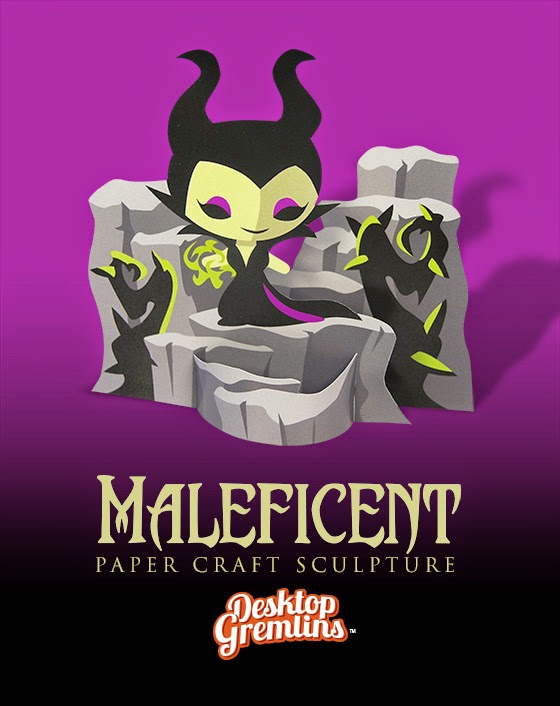 Maleficent Paper Toy