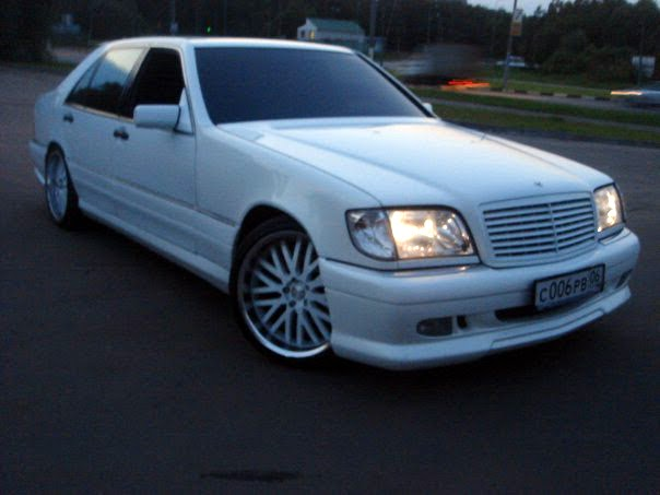 Mercedes benz w140 white on r20 rims benztuning for White rims for mercedes benz