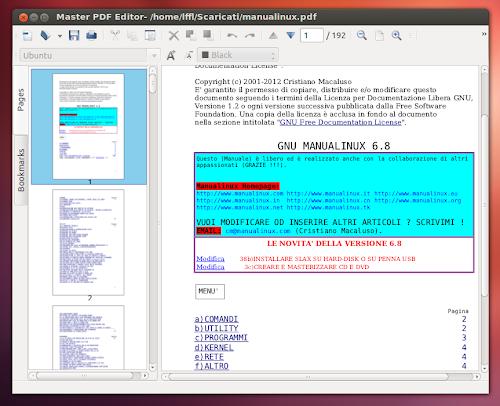 Master PDF Editor su Ubuntu