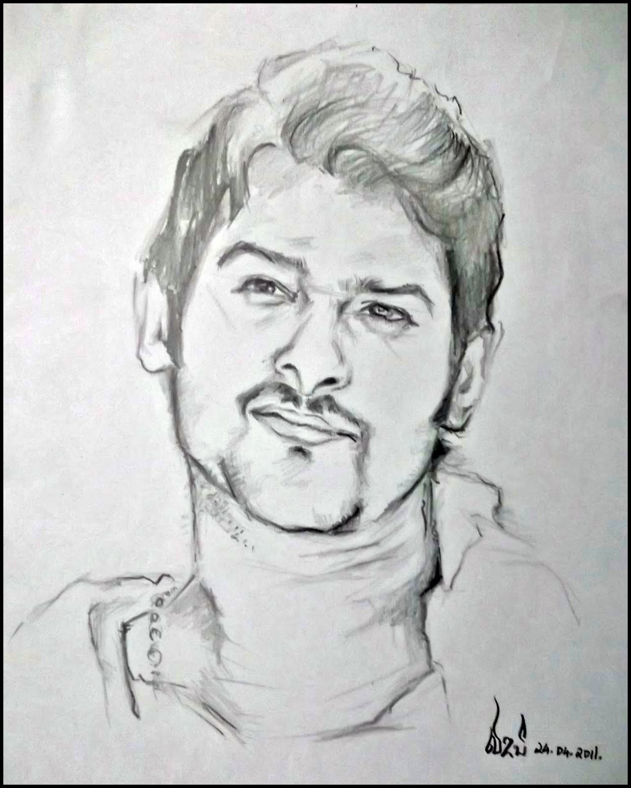 Prabhas pencil portrait