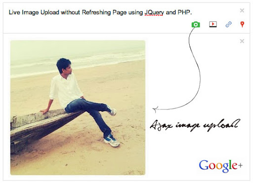 Ajax Image Upload without Refreshing Page with Jquery and PHP
