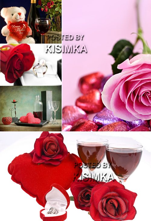 Stock Photo: Valentines day with roses