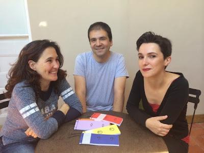 Sarah Dahan, Ferran Cerdans i Bel Olid. Foto: Catorze