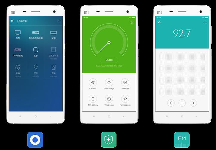 MIUI 6: sharing, utilities, radio/fm