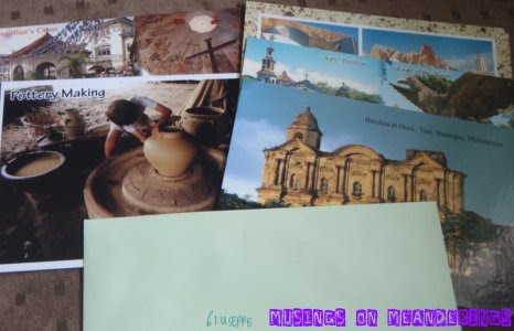 postcards, souvenirs