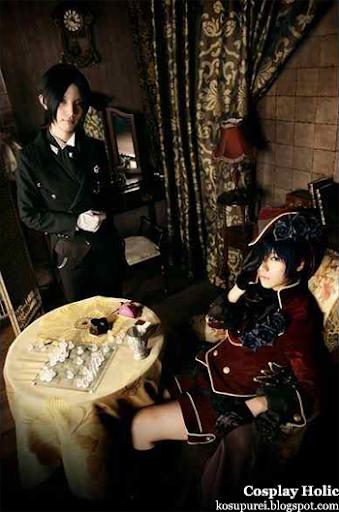 kuroshitsuji cosplay - sebastian michaelis and ciel phantomhive