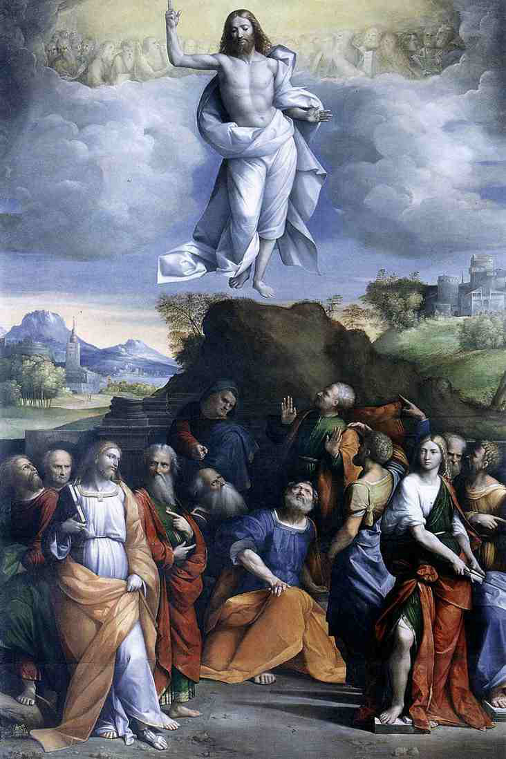 The Ascension of Christ, by Il Garofalo ~1515