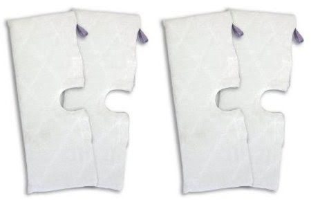 Shark XLT3501 (EXTRA LARGE), Set of 4, Microfiber Cleaning Pads for the Steam Pocket Mop.