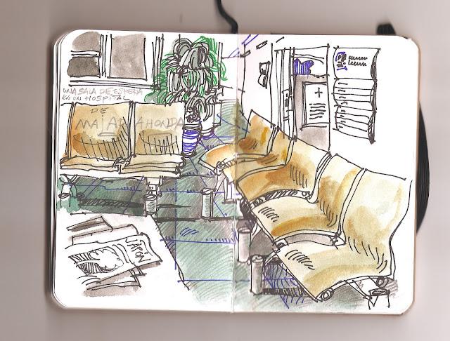 Urban Sketchers Spain El mundo dibujo a dibujo La sala de