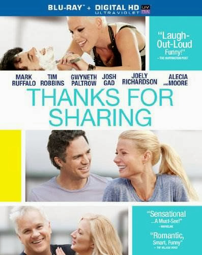 Thanks for Sharing [Blu-ray]  Starring Gwyneth Paltrow, Tim Robbins, Joely Richardson