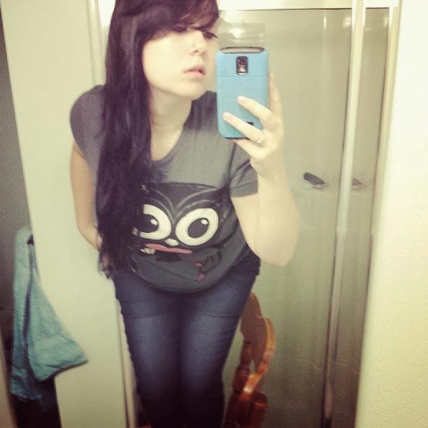 emo girl, cute creepy tshirt, emo style, owl tshirt, akumu ink,
