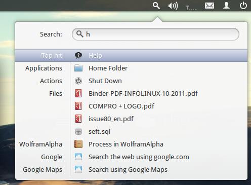 Searching keseluruhan langsung di desktop, baik kata dalam file, nama file, dll