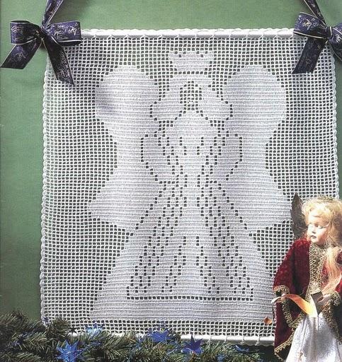 cortinas tejidas navideñas 3