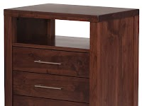 Walnut Nightstands with Drawers