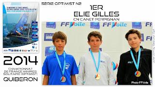 Elie Optimist Canet-en-Roussillon Championnat de France Voile 2014
