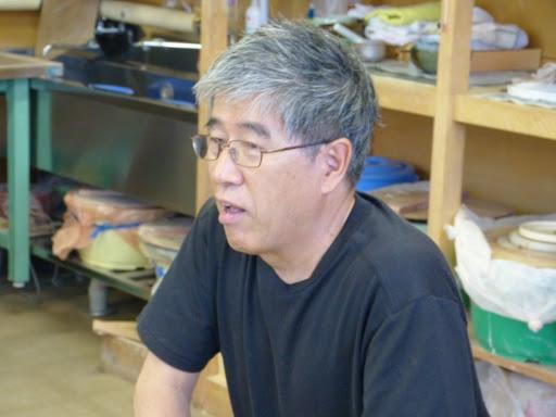 久々に陶芸に参加された、干場功代表