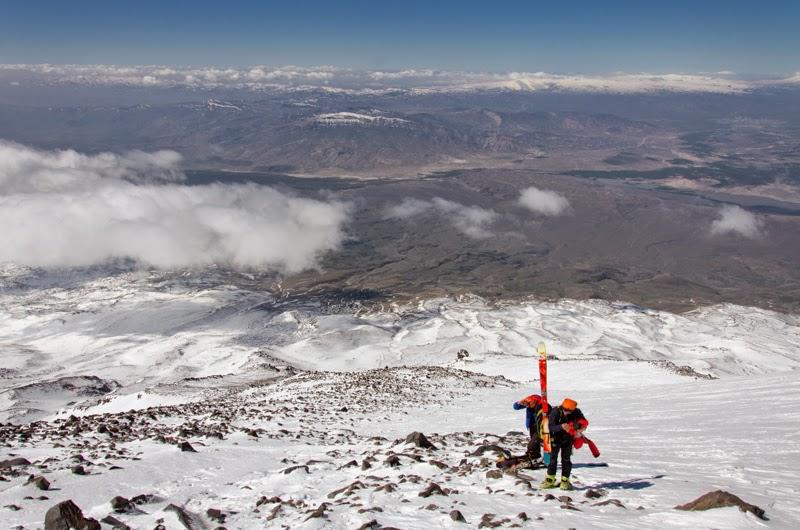 Aici am lasat skiurile  - 4650 m