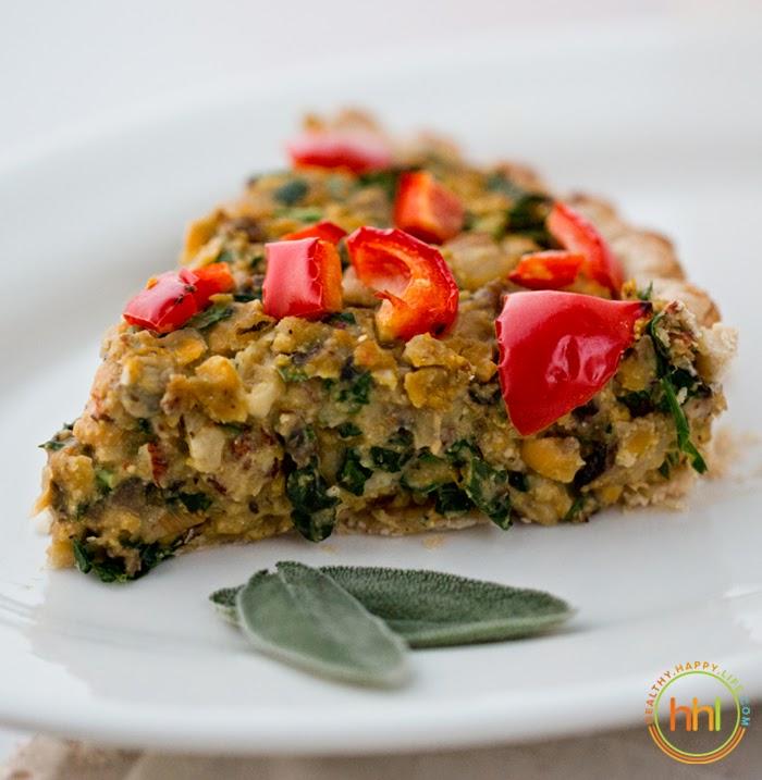 Mushroom-Chickpea-Hazelnut Tart