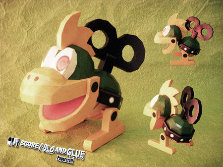Super Mario Bros. Wii Mecha Koopa Papercraft