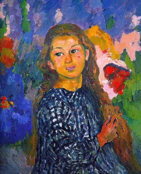 iovanni Giacometti - Portrait of Ottilia Giacometti. 1912