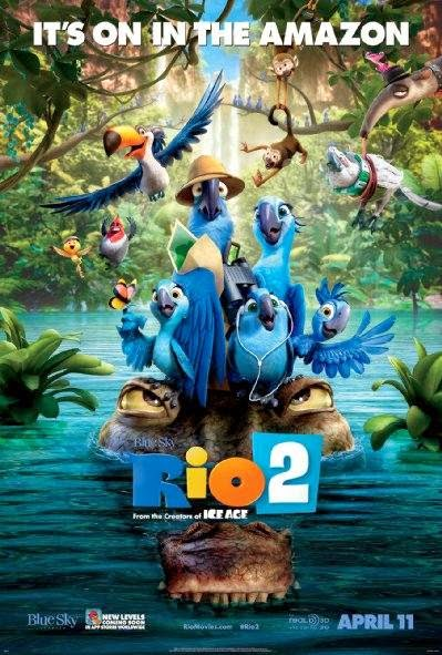 Poster Of English Movie Rio 2 (2014) Free Download Full New Hollywood Movie Watch Online At Alldownloads4u.Com