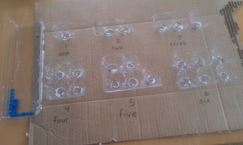 Water bead counting board