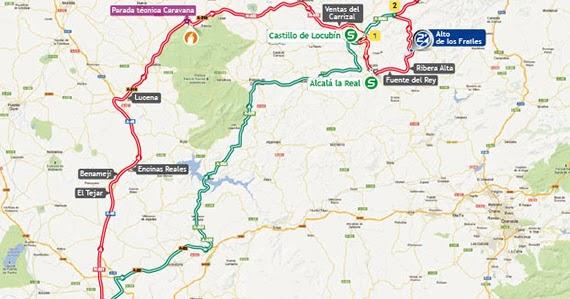 La vuelta 2013 etapa 9 antequera valdepe as de ja n - Plano de valdepenas ...