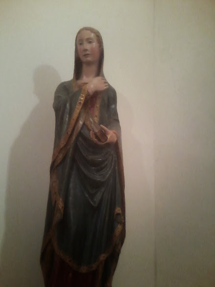 Wood sculpted Madonna probably by Domenico di Agostino at Montalcino's museum of sacred art