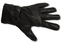 Black Leather Associate Gloves by AbbyShot Clothiers - Glove Close-up
