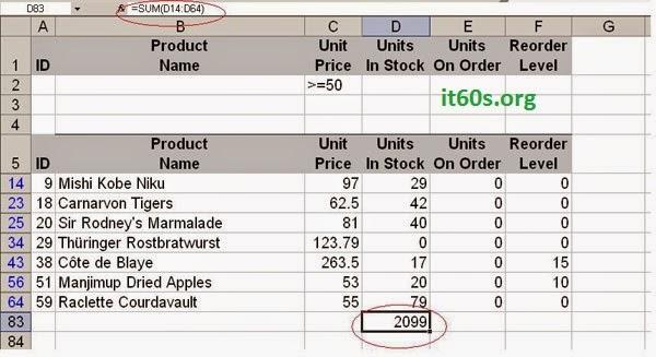 Hàm SUBTOTAL() giúp bạn tính toán các giá trị ẩn trong Excel 1