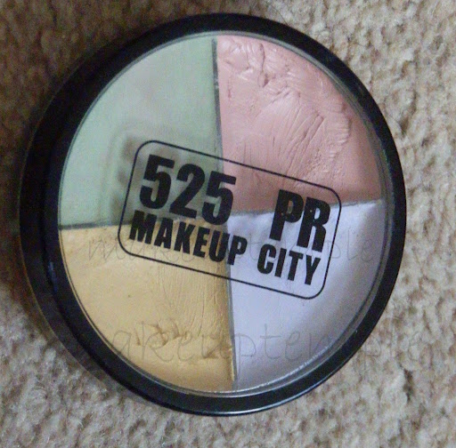 525 PR Makeup City Corrector Quad Review