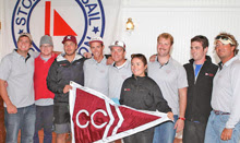 College of Charleston team- winning J/105 class at college big boat regatta