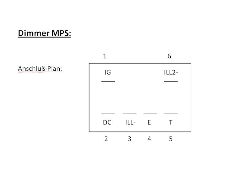 Funktion Dimmer für Instrumentenbeleuchtung [Archiv] - Mazda MPS Forum