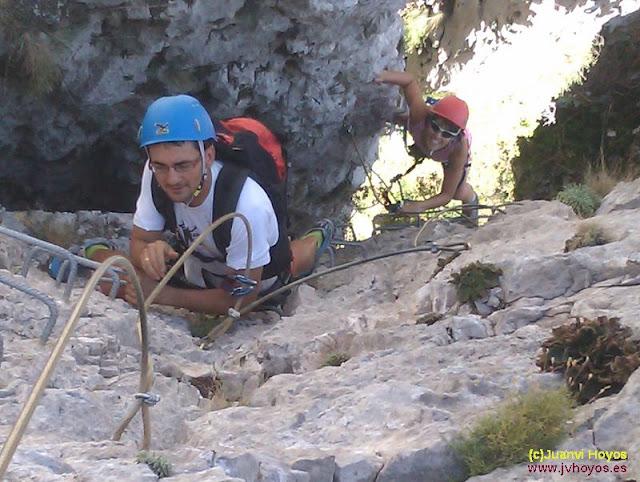 Vía ferrata de Foradada del Toscar, 8 de agosto de 2012