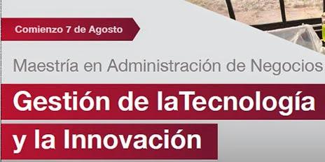 Becas para el nuevo MBA gestión de la tecnología y la innovación