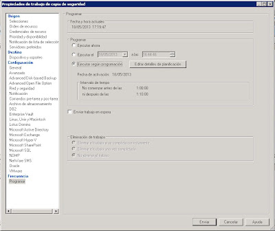 Añadir un trabajo de copia de seguridad a Symantec Backup Exec 2010 R3