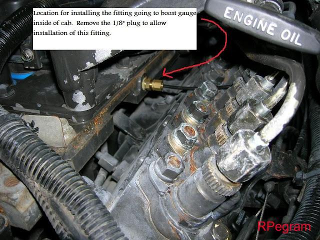 Oil pressure gauge for boost - Dodge Cummins Diesel Forum