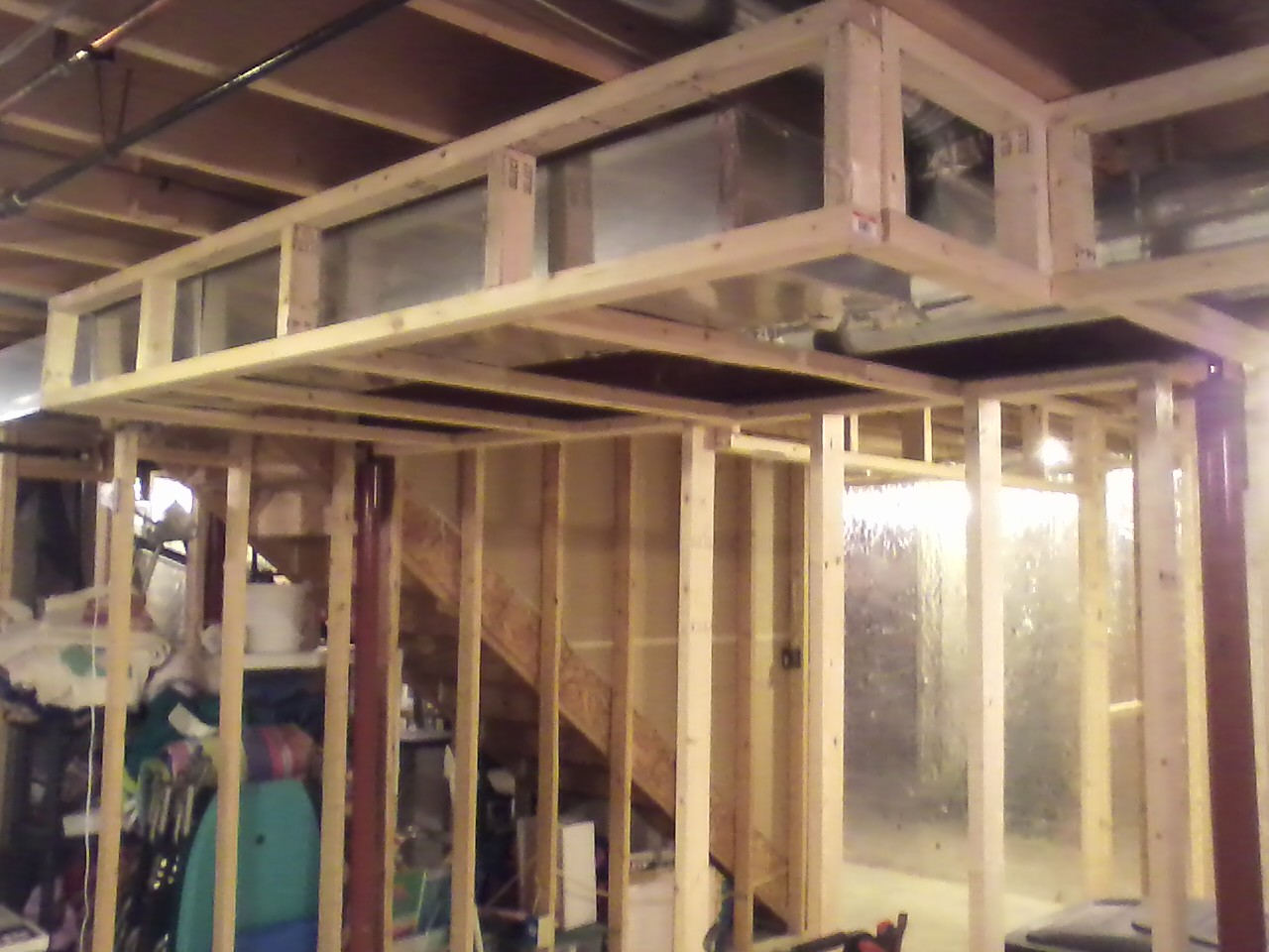 Framing around ductwork is always fun. & One Tile at a Time: Framing at the Dilbecku0027s
