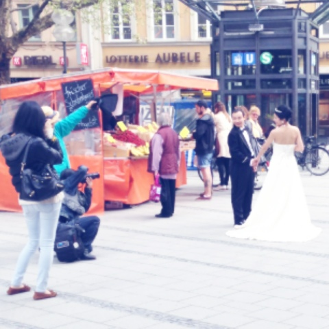Hochzeits-Shoot am Marienplatz