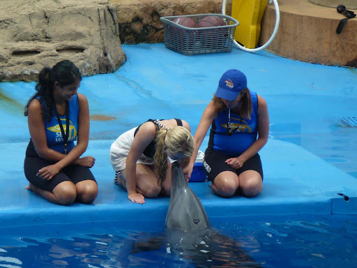 Jozie kissing Afrika the Dolphin! .jpg