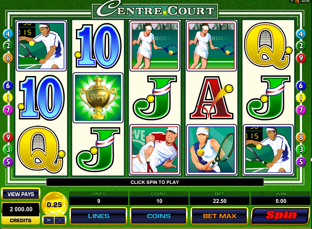 Play Centre Court Slots Game today!