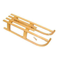 wooden folding Sledge on bambino direct
