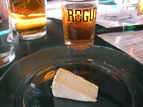 Rogue Dead Guy Ale and the smelly Monteillet Mejean