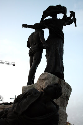 Statue in Martyrs Square in Beirut Lebanon
